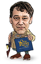 Sam Raimi as a Hobbit